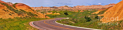 Photograph - Winding Through The Badlands by Adam Jewell