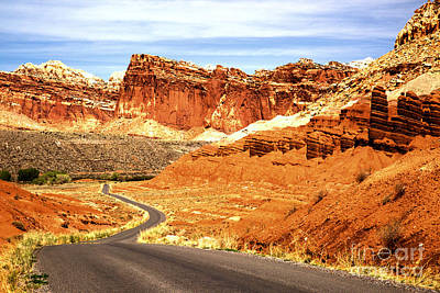 Photograph - Winding Through The Capitol Red Rocks by Adam Jewell