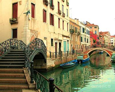 Photograph - Winding Through The Watery Streets Of Venice by Barbie Corbett-Newmin