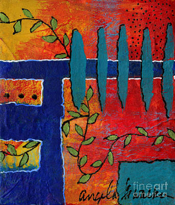 Mixed Media - Winding Vines IIi by Angela L Walker