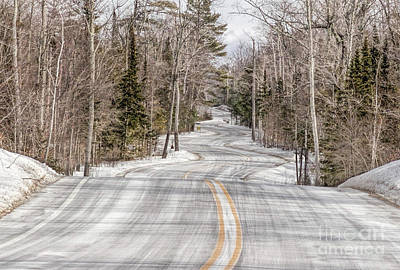 Nikki Vig Royalty-Free and Rights-Managed Images - Winding Winter Road  by Nikki Vig