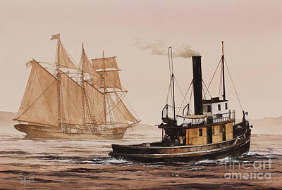 Painting - Windjammer Assist by James Williamson