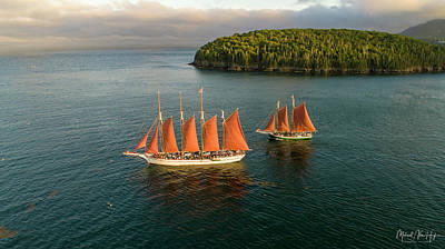 Photograph - Windjammer Cruises  by Michael Hughes