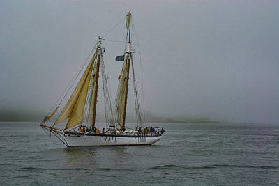 Photograph - Windjammer In The Mist by Jesse MacDonald