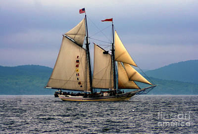 Windjammer Lewis R French Art Print by Jim Beckwith