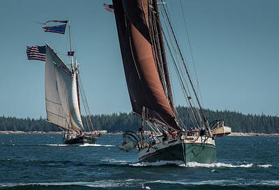 Photograph - Windjammer Race by Fred LeBlanc
