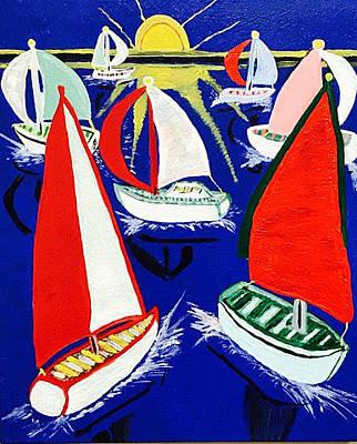 Painting - Windjammers by Jonathon Hansen