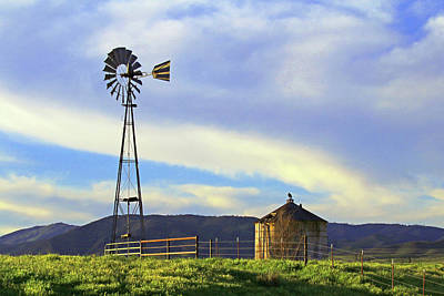 Photograph - Windmill And Water Tank by Art Block Collections