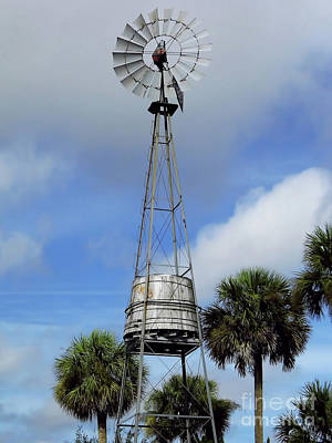 Photograph - Windmill And Water Tank by D Hackett