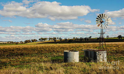Photograph - Windmill And Water Tank In Rural Merriwa by Lexa Harpell