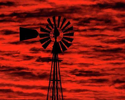 Photograph - Windmill Art -001 by Rob Graham