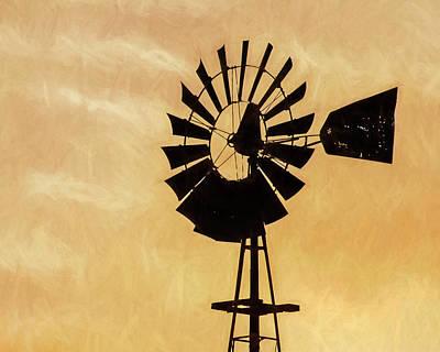 Photograph - Windmill Art -002 by Rob Graham