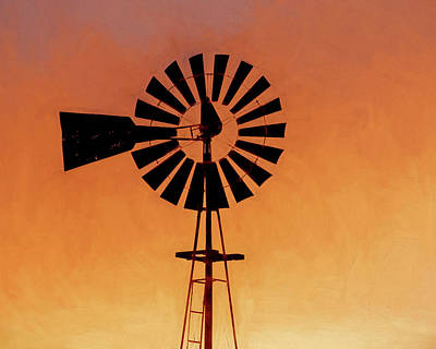 Photograph - Windmill Art -003 by Rob Graham