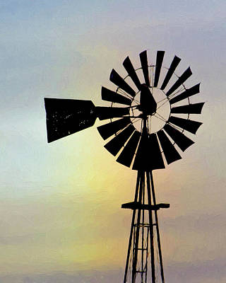 Photograph - Windmill Art -004 by Rob Graham