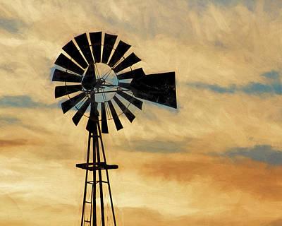 Photograph - Windmill Art -005 by Rob Graham