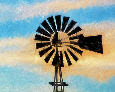 Photograph - Windmill Art -006 by Rob Graham