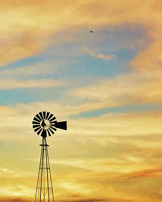 Photograph - Windmill Art -007 by Rob Graham