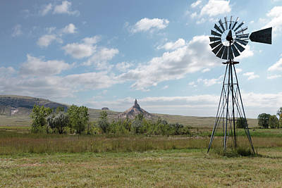 Photograph - Windmill At Chimney Rock by Susan Rissi Tregoning