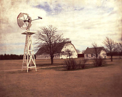 Windmill At Cooper Barn Art Print