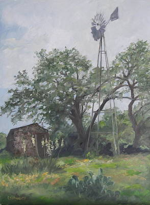 Windmill At Genhaven Art Print