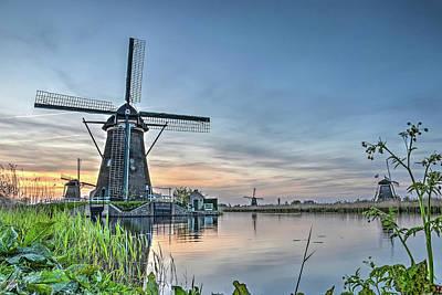 Photograph - Windmill At Kinderdijk by Frans Blok