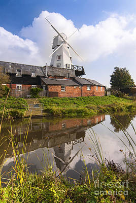 Windmill At Rye Art Print by John Boud