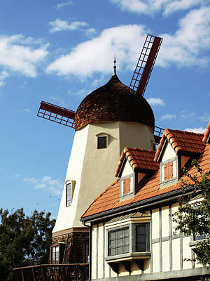 Photograph - Windmill At Solvang, California by Mary Capriole