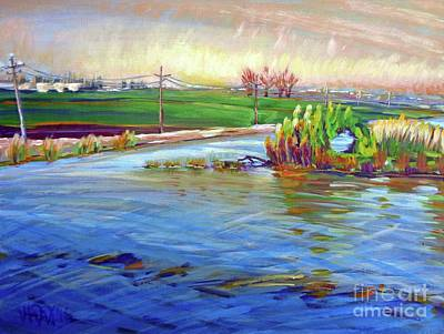 San Joaquin Painting - Windmill Cove And Holt Roads by Vanessa Hadady BFA MA