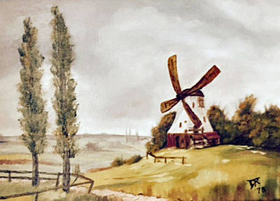 Painting - Windmill  by Donald Paczynski