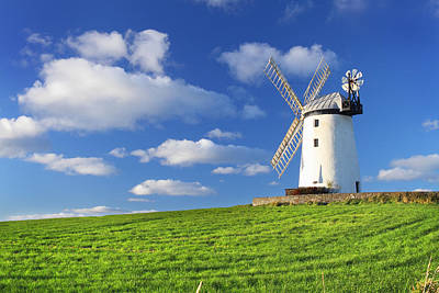 Grass Photograph - Windmill by Drew McAvoy