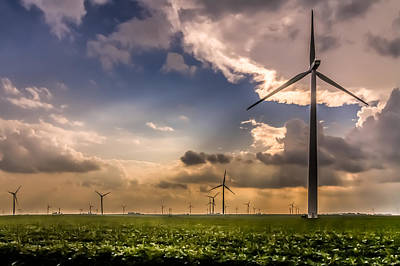 Photograph - Windmill Farm by Ron Pate