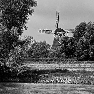 Photograph - Windmill From The Meuse by Eric Tressler