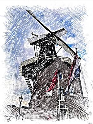 Windmill Art Print by Gabor Gabriel Magyar - Forgottenangel