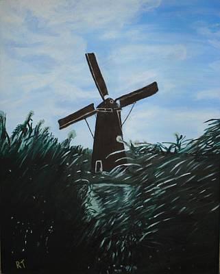 Windmill In Amsterdam Art Print