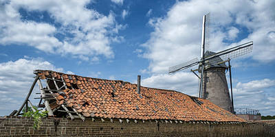 Photograph - Windmill In Belgium by Jeremy Lavender Photography