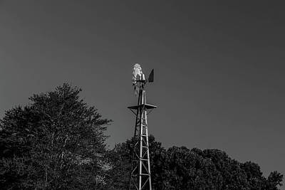 Photograph - Windmill In Bw by Doug Camara