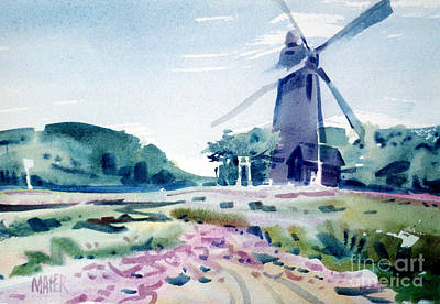 San Francisco Landscape Painting - Windmill In Golden Gate Park by Donald Maier