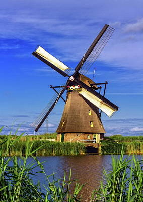 Photograph - Windmill In Kinderdijk, Holland, Netherlands by Elenarts - Elena Duvernay photo