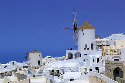 Photograph - Windmill In Oia, Santorini, Greece by Elenarts - Elena Duvernay photo