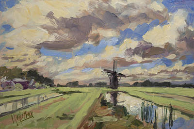 Painting - Windmill In The Morning by Nop Briex