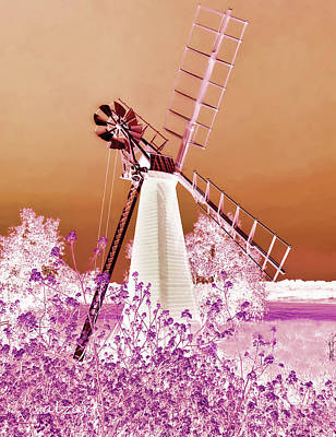 Photograph - Windmill In The Pink by Valerie Anne Kelly