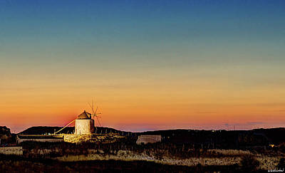 Photograph - Windmill In The Sunset Of Vejer by Weston Westmoreland