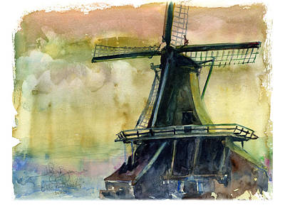 Painting - Windmill by John D Benson