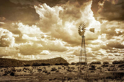 Photograph - Windmill Landscape by James Barber