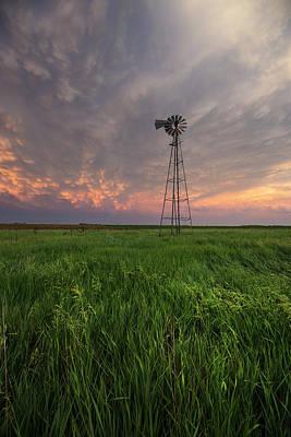 Mammatus Photograph - Windmill Mammatus by Aaron J Groen