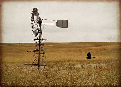 Art Print featuring the digital art Windmill by Margaret Hormann Bfa