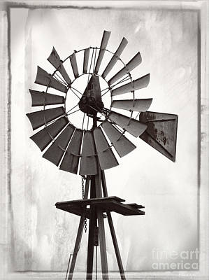 Photograph - Windmill Monochrome by Ella Kaye Dickey