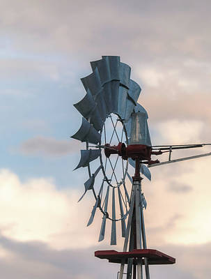 Photograph - Windmill On A Cloudy Day by Dan Sproul