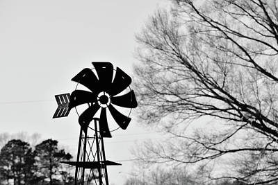 Photograph - Windmill On The Farm by Nicole Lewis