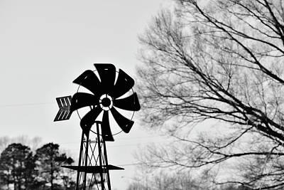 Windmill On The Farm Art Print